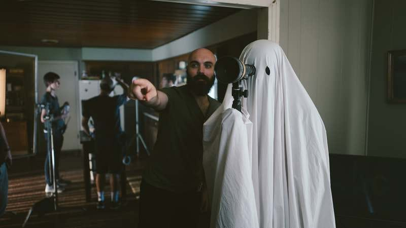 David Lowery on the set of A Ghost Story (Photo: A24/Lindsay Macik)