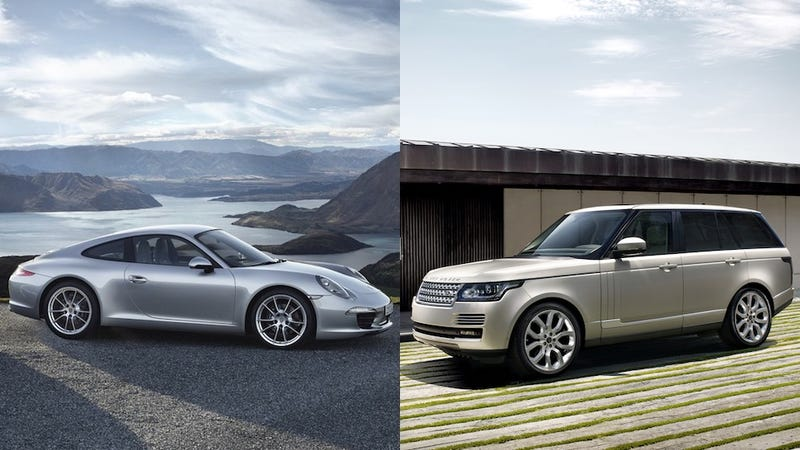 the range rover and the porsche 911 are the same car. Black Bedroom Furniture Sets. Home Design Ideas