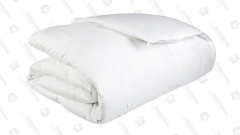 Pinzon Lightweight Shed-Resistant White Down Comforter - Full/Queen | $46 | AmazonPinzon Lightweight Shed-Resistant White Down Comforter - King | $62 | Amazon