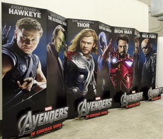 Illustration for article titled The Avengers Standees
