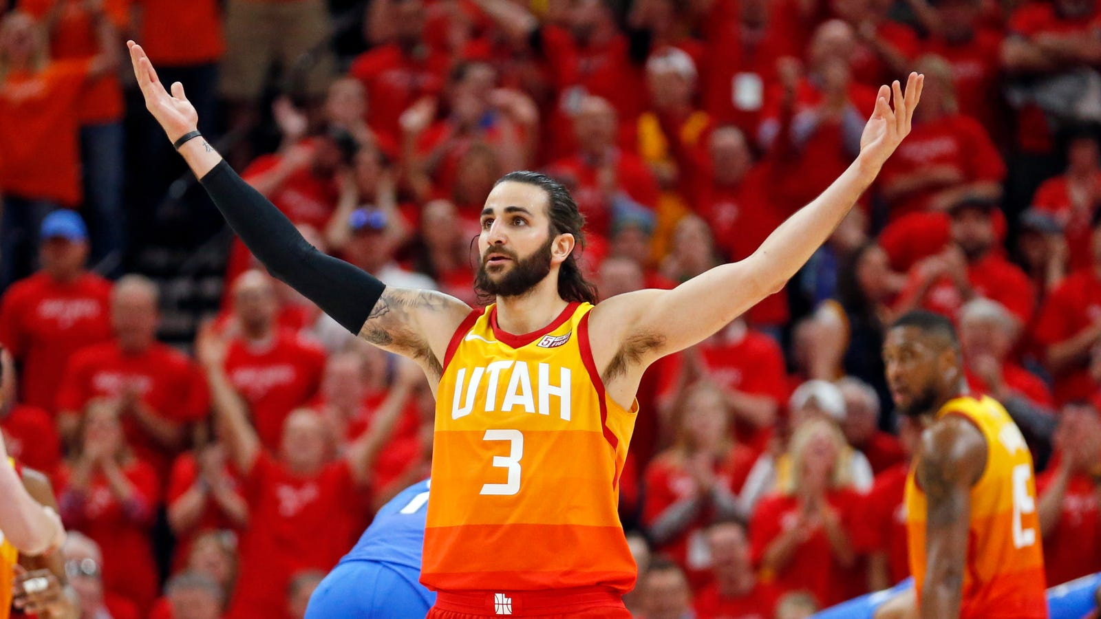buy online eaac3 2f7c7 Grim And Gritty Ricky Rubio Has The Thunder On The Ropes