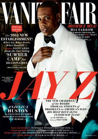 Jay Z on the cover of Vanity Fair's November 2013 issue (Mario Testino/VanityFair.com)