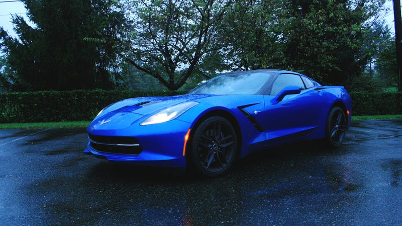 Illustration for article titled The 2014 Corvette Stingray Is Amazing Even In The Rain