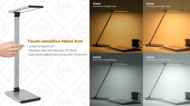TaoTronics LED Desk Lamp, $30 with code CC3OTE2X