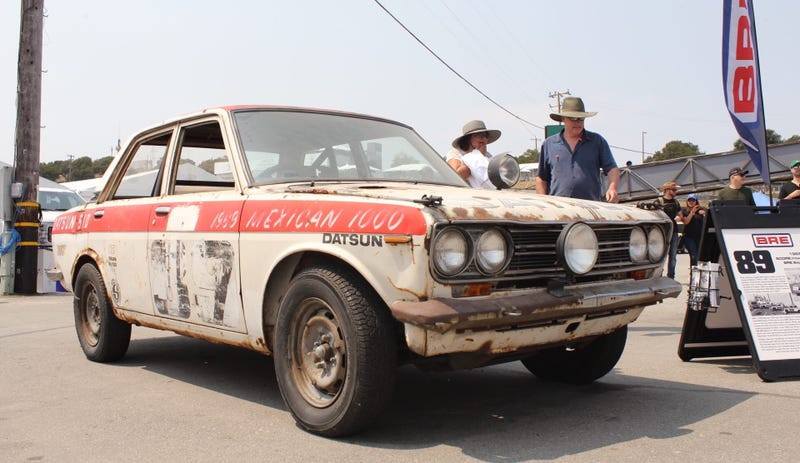 this is what a datsun 510 looks like after the baja 1000