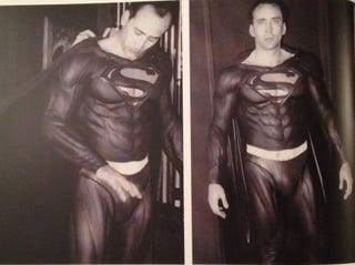 Illustration for article titled Are the latest ridiculous Nic Cage Superman test shots real or fake?