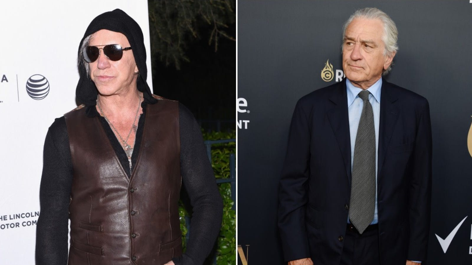 Mickey Rourke and Robert De Niro are embroiled in a vicious feud that we are just now hearing about