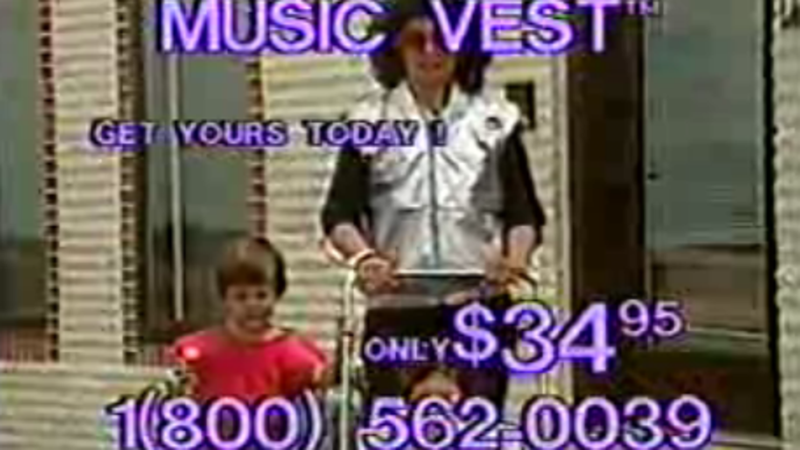 Music Vest Ad from the '80s is Probably the Pinnacle of