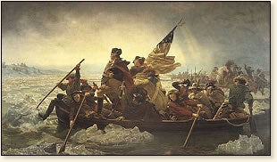 Illustration for article titled Random Historical Fact About Washington Crossing the Delaware