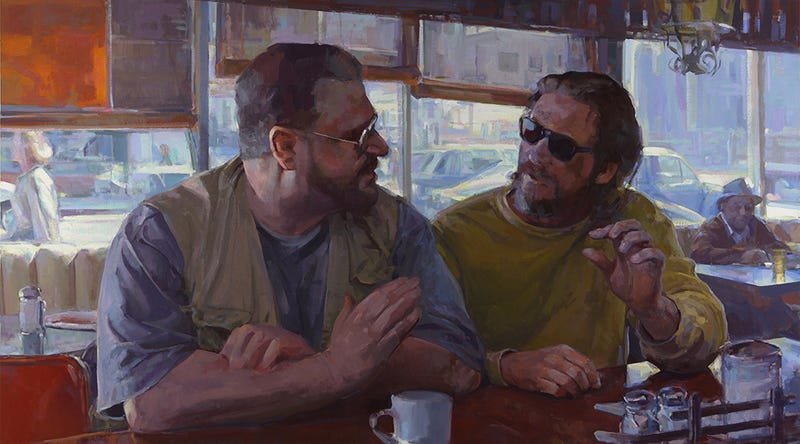 Illustration for article titled The Big Lebowski painted after classic art works