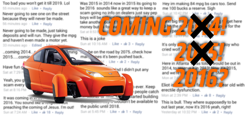 Illustration for article titled Elio Motors Pushed Its Release Date Back A Year And People Are Pissed