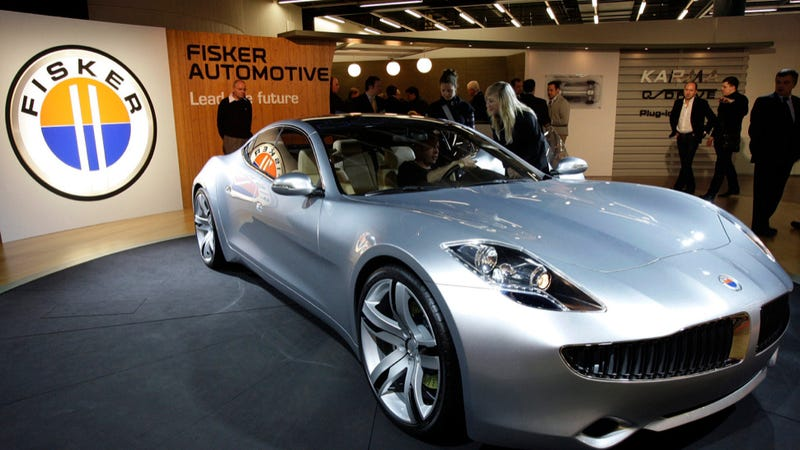Illustration for article titled Fisker's Bloated, Debt-Ridden Carcass Is Up For Auction