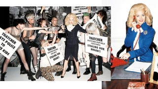 Illustration for article titled Terry Richardson Shoots Georgia May Jagger Fighting Hordes Of British Youths