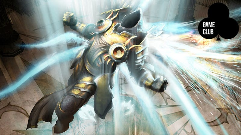 Illustration for article titled Ponder the Endless Cycle of Grabbing Loot in Diablo III with the Game Club Right Now!