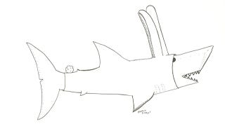 Illustration for article titled 'A Shark Wearing a Bunny Suit, Why Not?'