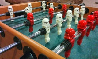 Illustration for article titled Easily Upgrade Your Foosball Table's Players to Stormtroopers