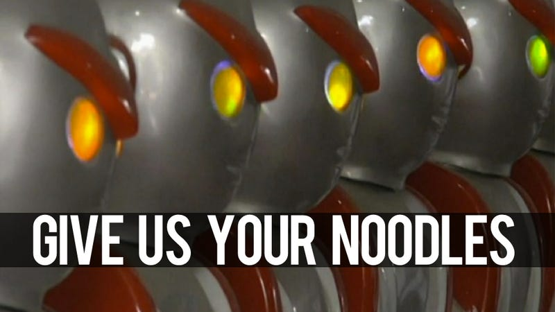 Illustration for article titled Holy Crap, an Army of Robots Ready To Slice Your Noodles