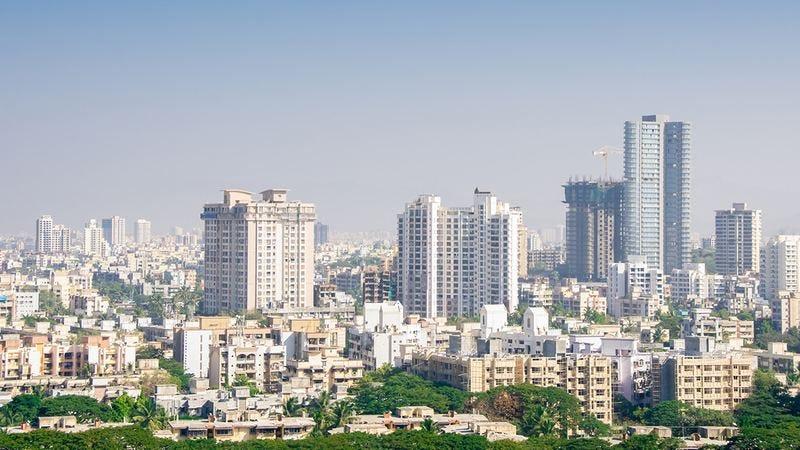 The Mumbai skyline.