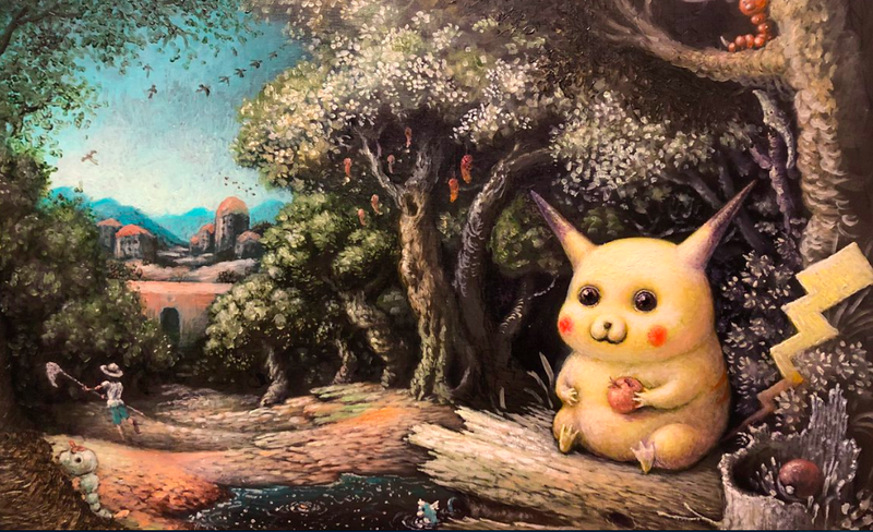 Illustration for article titled If Only This Pikachu Painting Was Pokémon Card Material
