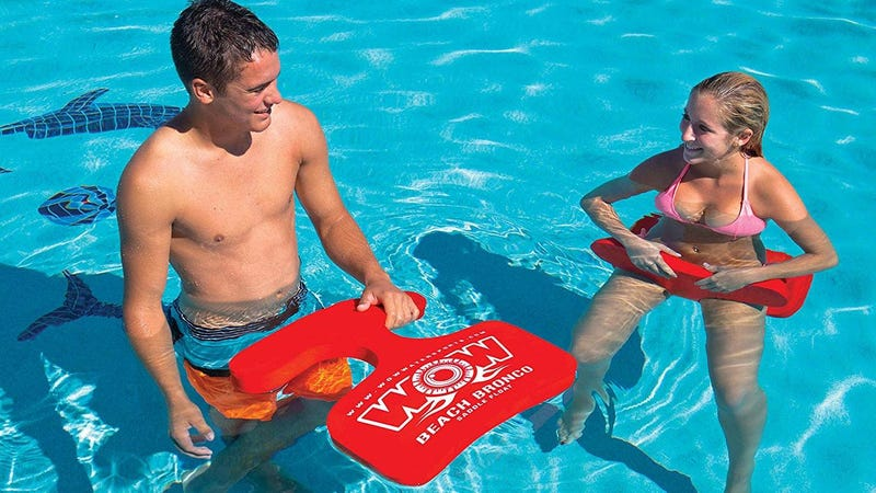 Beach Bronco Floating Pool Seat, Red | $23 | Amazon