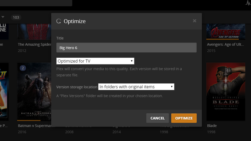 Use Plex's Optimize Feature to Make Streaming Playback Smoother