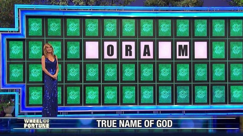Vanna White revealing the true name of God.