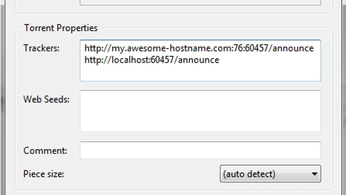 Open bittorrent tracker list