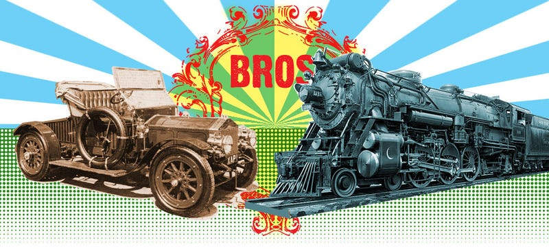 Illustration for article titled This Timeline Is Total Proof That Cars And Trains Are Both 'Automobiles'