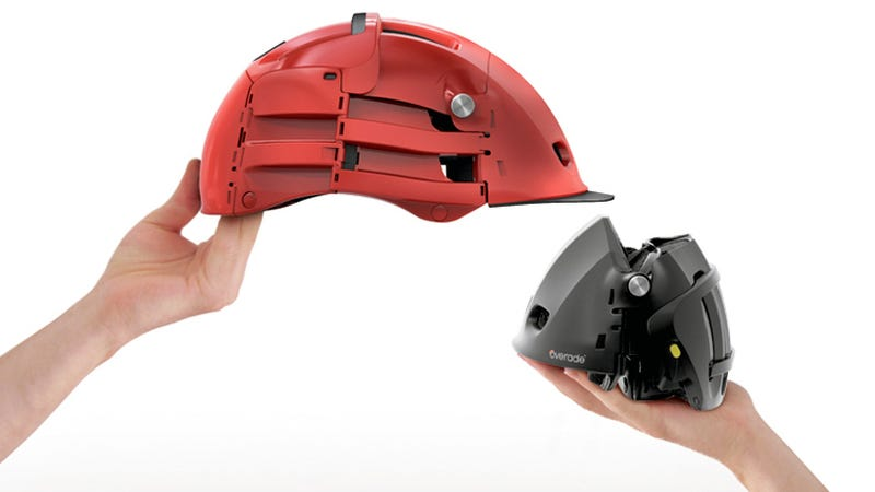 Illustration for article titled This Folding Bike Helmet Is an Urban Cyclist's Dream Come True