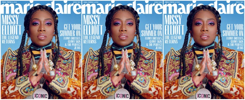 Illustration for article titled 'I Am a Champion for My Brown, Dark Women': Living Legend Missy Elliott Covers Marie Claire