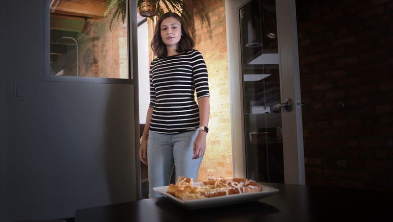 Illustration for article titled 'Who Sent You Here,' Whispers Woman To Big Tray Of Cheese Danishes Confronting Her In Break Room
