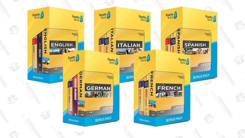 Rosetta Stone Bonus Pack Bundle (English, French, Spanish, German, and Italian) | $159 | Amazon
