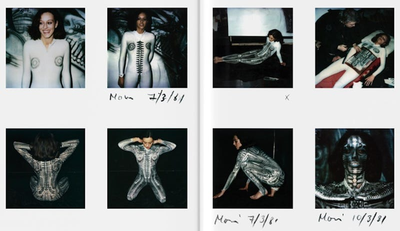 Illustration for article titled Even H.R. Giger's Private Polaroids Are Dripping With Alien Sexiness
