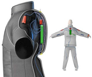 Illustration for article titled Smart Suit Uses GPS and Wi-Fi to Save Lives