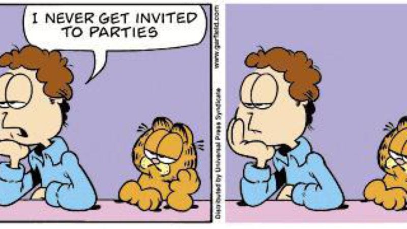 Illustration for article titled Garfield Without Garfield's Thought Balloons is a twist on a twist on the comic strip