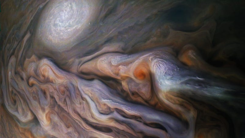 Juno image of Jupiter's cloud tops.