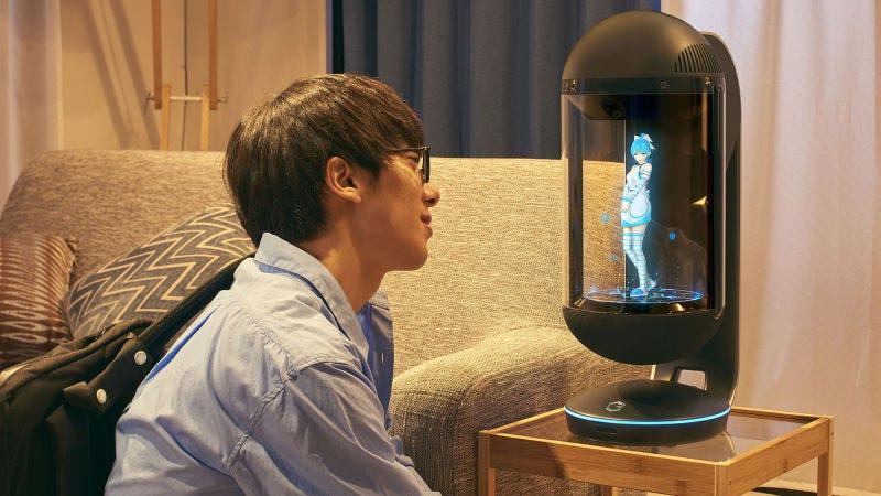 Illustration for article titled Un japonés de 35 años se casa con el holograma de una estrella pop virtual de 16 años