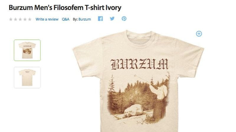 Illustration for article titled Walmart is playing a dangerous role in the normalization of Burzum T-shirts