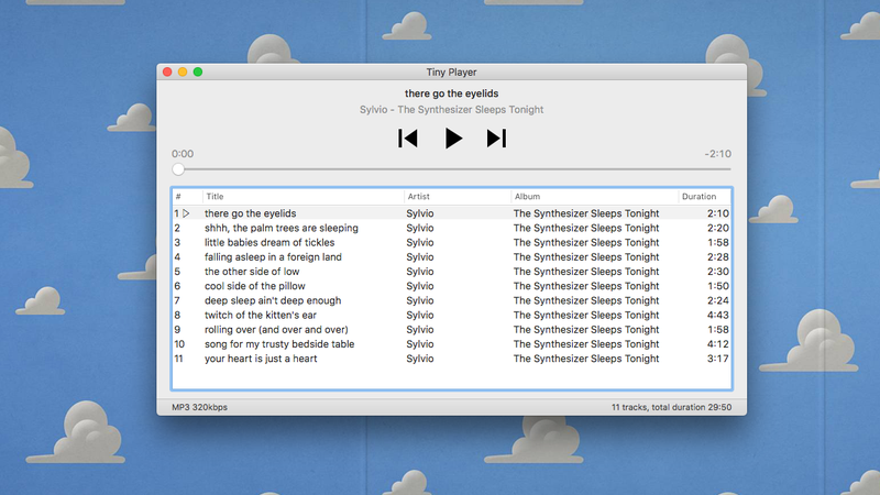 Hate iTunes? Use Tiny Player for Mac