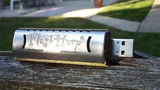 Illustration for article titled Learn to Play Harmonica With This USB Flash Drive