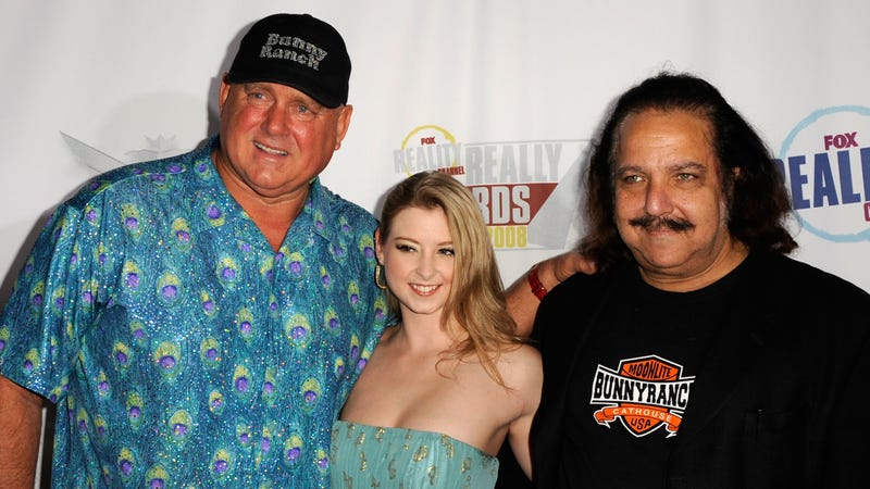 Dennis Hof, adult film actress Sunny Lane, and Ron Jeremy