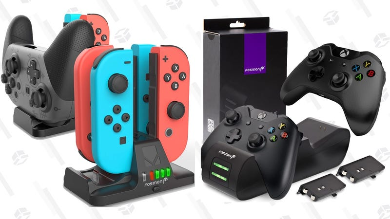 Xbox One and Nintendo Switch Controller Charging Dock Gold Box | $11-$18 | Amazon