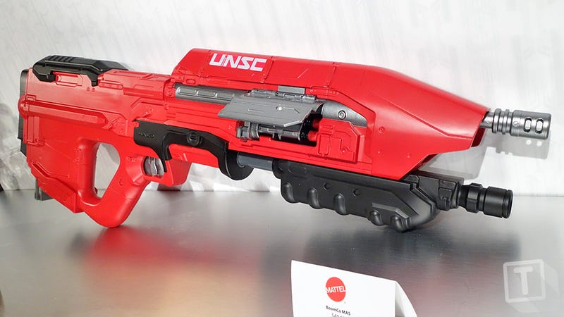 Illustration for article titled Master Chief's Iconic UNSC MA5 Halo Rifle Is Now a BOOMco Dart Blaster