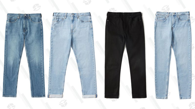 The Modern Boyfriend Jean (Mid Blue, Light Blue, Black) | Choose What You Pay | EverlaneThe Mid-Rise Skinny Jean | Choose What You Pay | Everlane