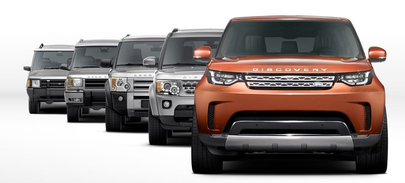 Illustration for article titled Here's The Front Of The 2017 Land Rover Discovery And Nothing Else