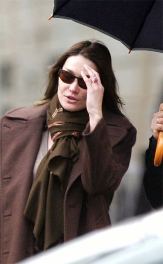 Illustration for article titled Newly-Betrothed Carla Bruni Already Beaten Down