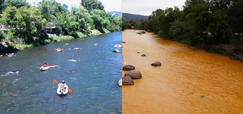 Illustration for article titled An Acid-Spilling Mine Turned This Colorado River Bright Orange