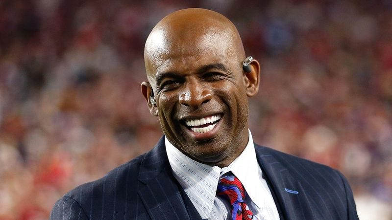 Illustration for article titled Deion Sanders Recalls Starting Out As NFL Network Researcher