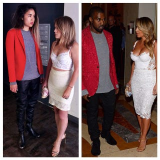 Illustration for article titled Two Women Dress As Kim and Kanye, Excellence Ensues