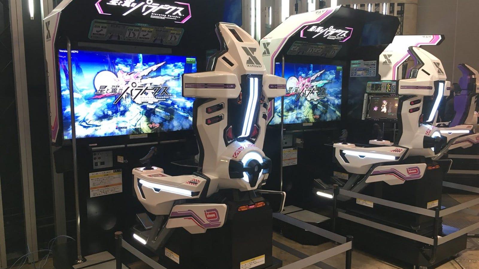 maquinas de juego de starwing paradox que se usarian en el evento cancelado por square enix.